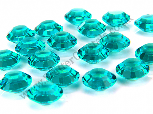 Pk 100 Swarovski Unfoiled Table Crystals, Style 1128, SS29 (6.2mm), Blue Zircon